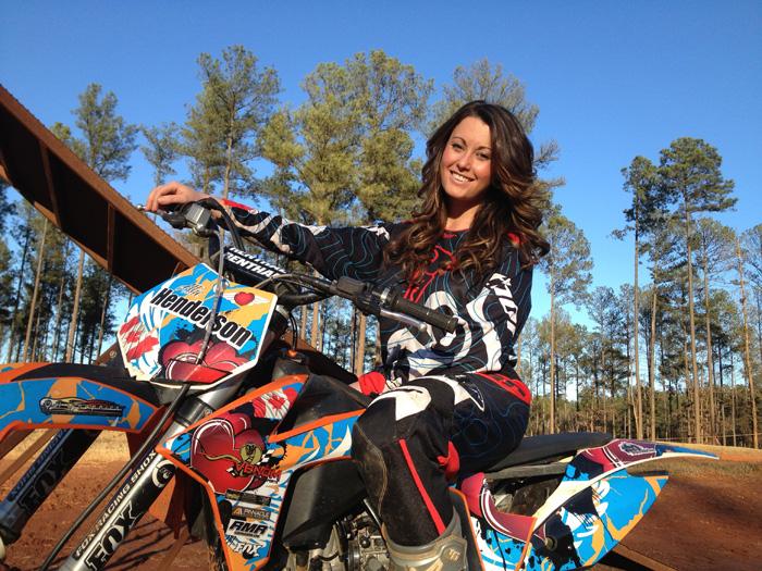 Motocross Girl Wallpaper In Focus Allie Henderson
