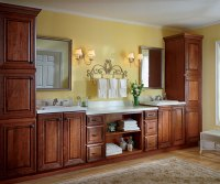 Cherry Bathroom Cabinets - Kemper Cabinetry