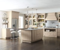 Transitional Kitchen with Beige Cabinets - Kemper Cabinetry