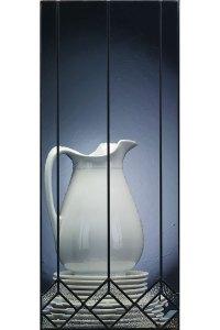 Plantation Glass Cabinet Insert - Kemper Cabinetry