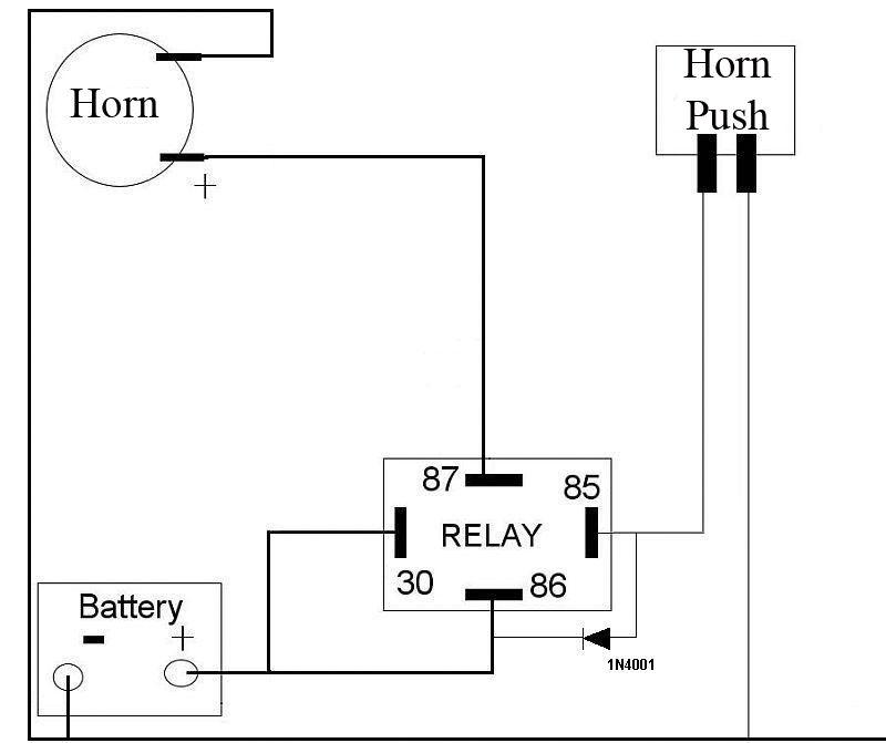 6 volt horn wiring diagram