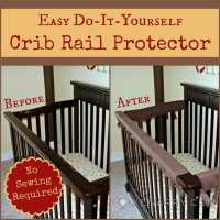Crib Rail Cover: Easy Idea With No Sewing Required