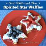 Spirited Star Waffles: An Easy Red, White and Blue Breakfast