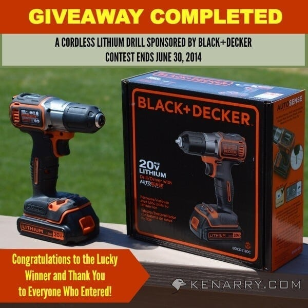 BLACK+DECKER Cordless Lithium Drill with AutoSense Technology - Giveaway Ended - Kenarry.com
