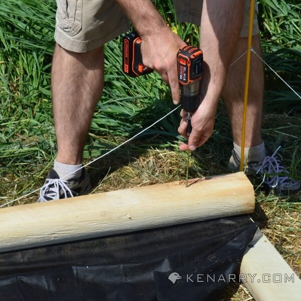 DIY Wood Sandbox: Easy to Make with the New BLACK+DECKER AutoSense Drill - Kenarry.com
