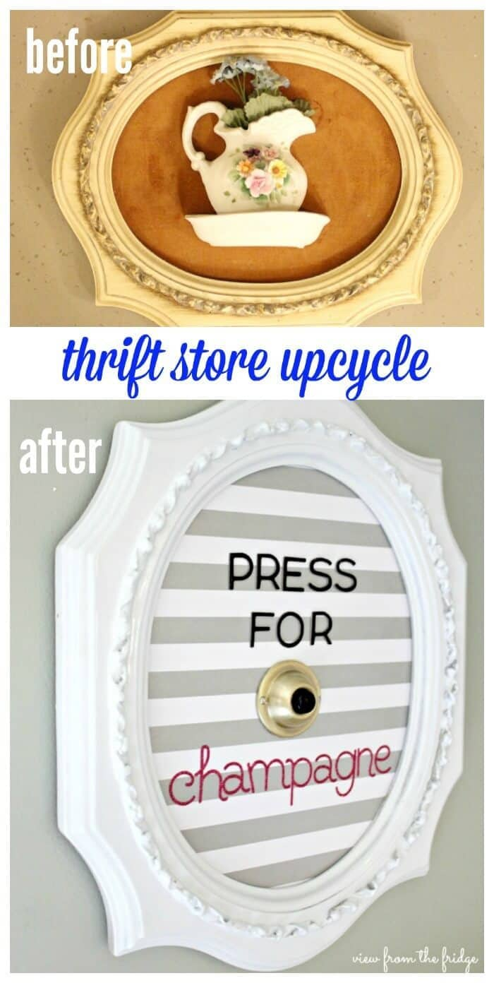 'Unique' Thrift Store Upcycle from View from the Fridge in the Summer Spotlight