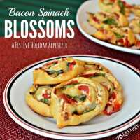 Bacon Spinach Blossoms: Festive Holiday Appetizer