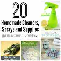 Homemade Cleaners: 20 DIY Sprays and Supplies
