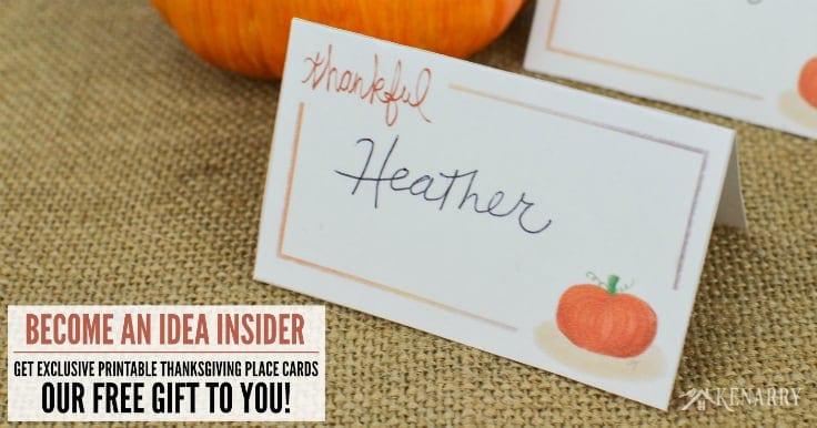 Thanksgiving Table Decor 5 Easy Holiday Ideas + Free Printable