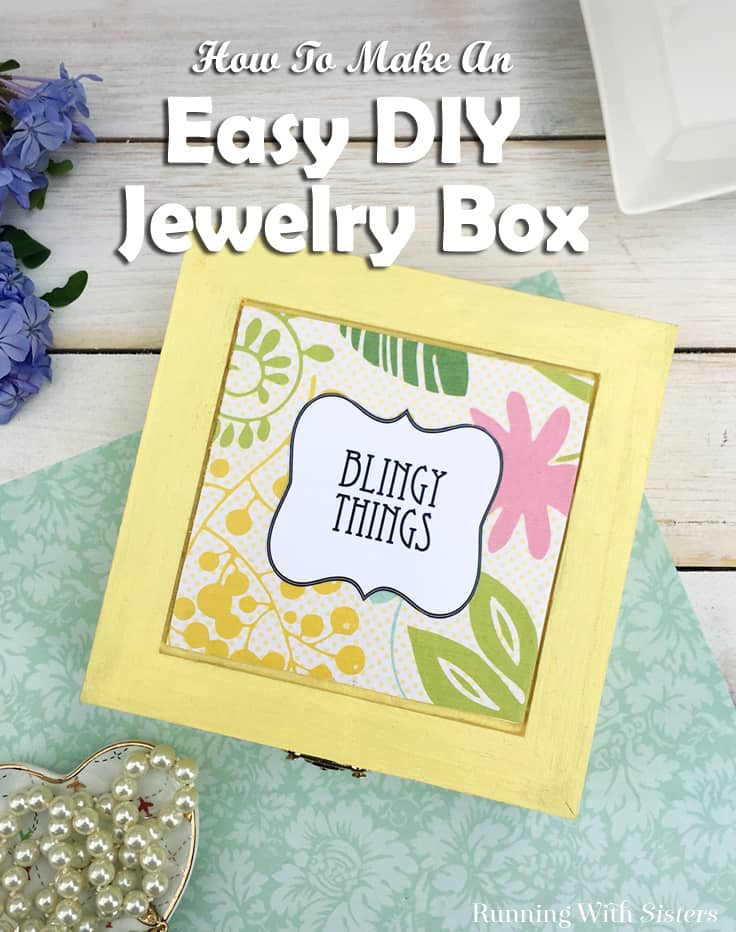 How To Make An Easy Jewelry Box With A Cute Label Kenarry