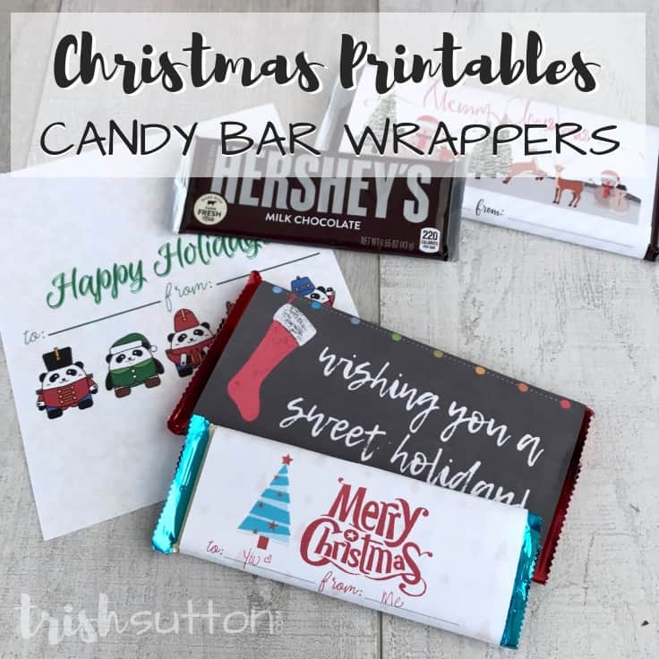 Free Printable Candy Bar Wrappers Simple Christmas Gift