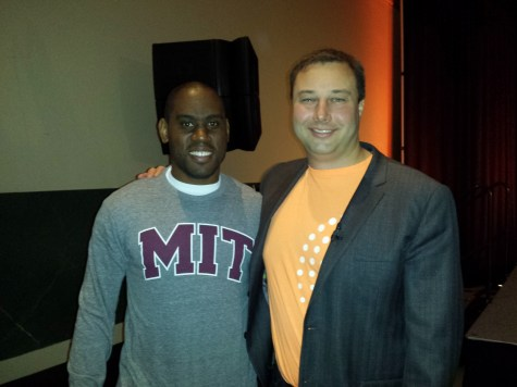 Kendall Matthews with Mike Volpe CMO of Hubspot at Inbound Conference