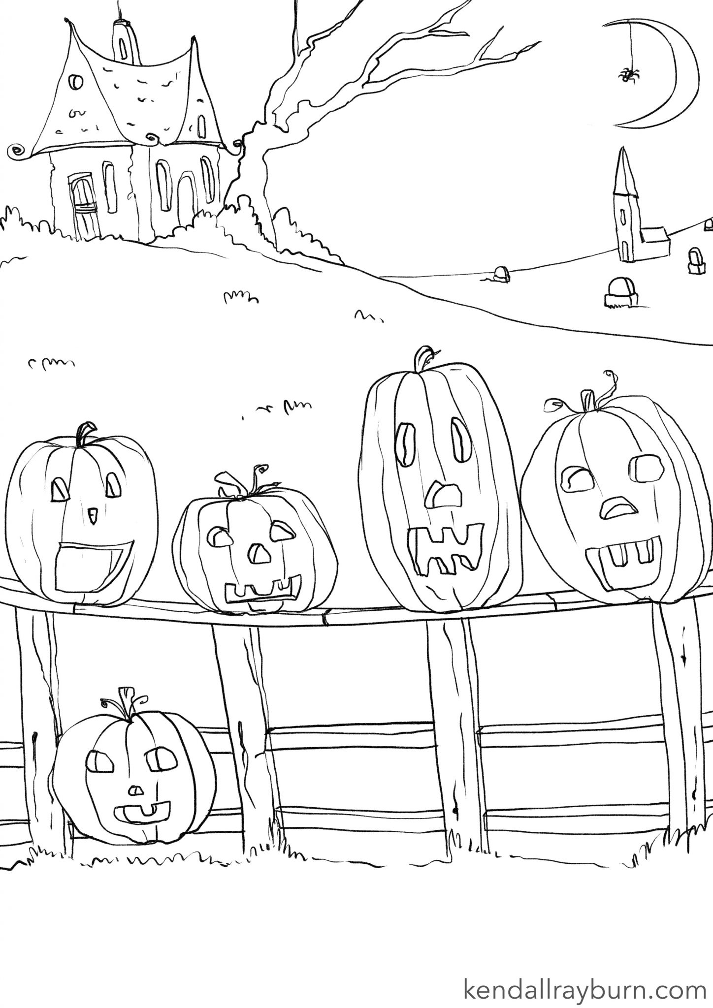 Five Little Pumpkins Color Sheet Auto Electrical Wiring Diagram Pumpkin