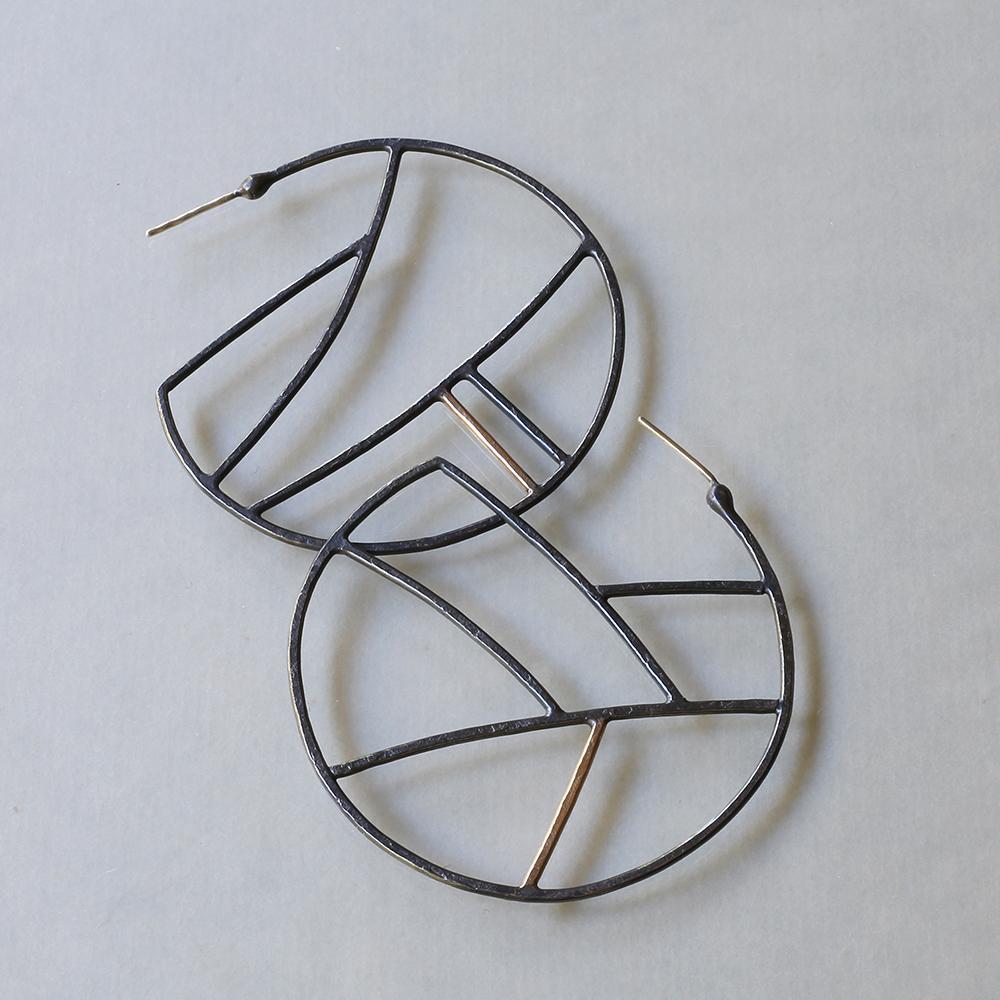Handmade Silver Earrings: Geometric Earrings