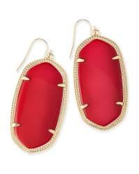 Danielle Gold Statement Earrings in Red   Kendra Scott