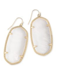 Danielle Gold Statement Earrings in White Pearl | Kendra Scott