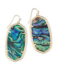 Danielle Gold Earrings in Abalone Shell | Kendra Scott