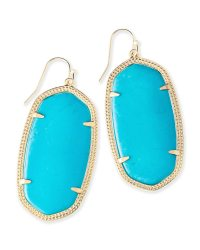 Danielle Gold Statement Earrings in Turquoise | Kendra Scott