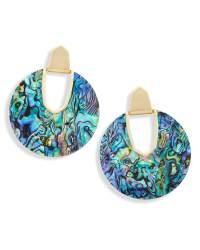 Diane Gold Statement Earrings Abalone Shell | Kendra Scott