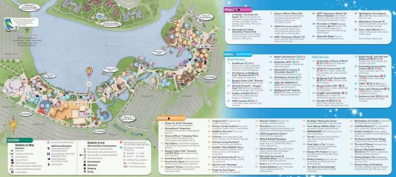 Downtown Disney Map KennythePirates Guide To Disney World