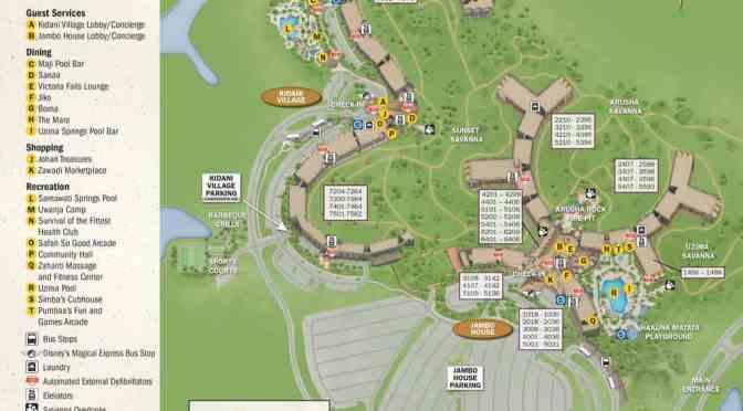 Animal Kingdom Lodge Kidani Village Resort Map