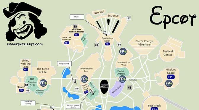 Epcot Map 2015