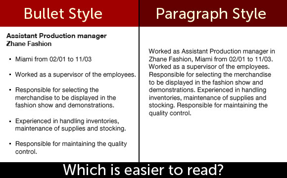 example of a paragraph of skills on a resume
