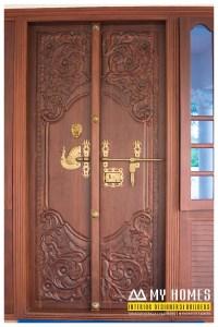 traditional kerala front door designing