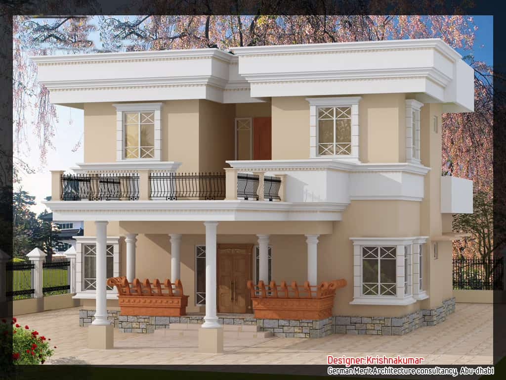 Hd elevation for duplex joy studio design gallery best for Hd house elevation