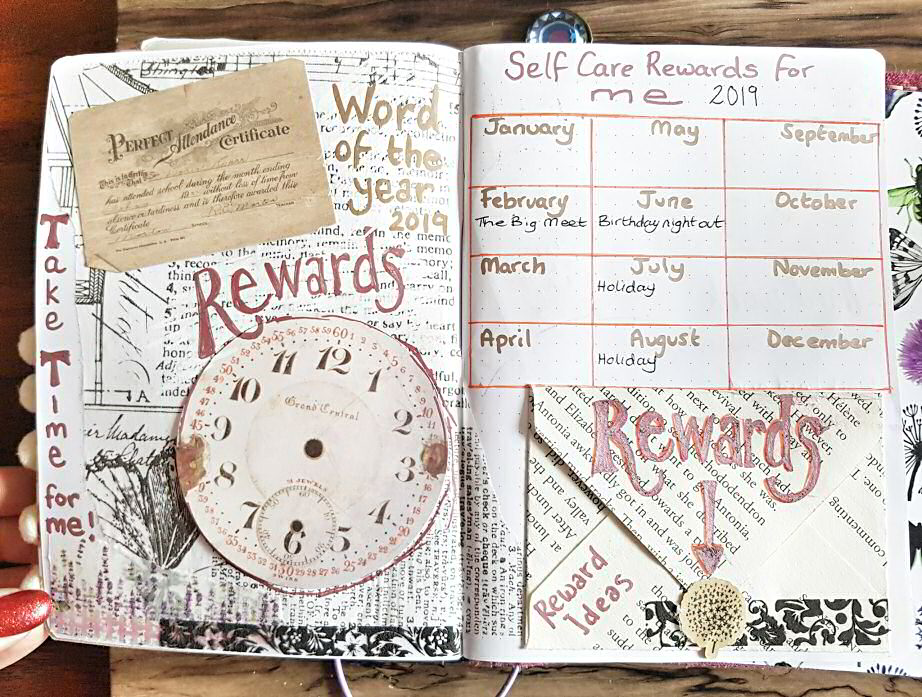 Self Care Rewards Journal - Word of the Year