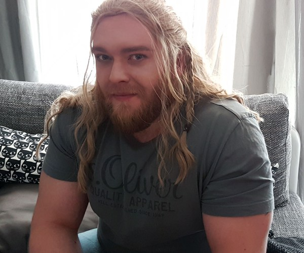 Kes Cosplay Thor Wigtest first photo