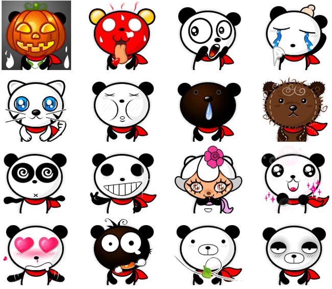 Cutest Panda Emoticons