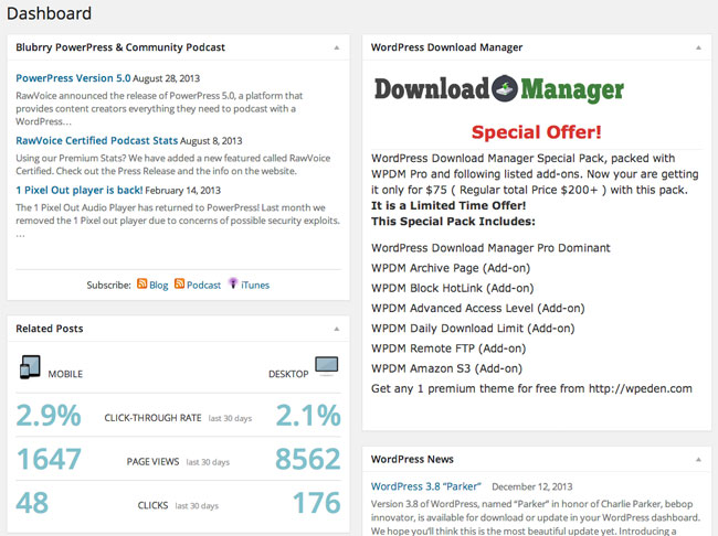 WordPress Dashboard Widgets