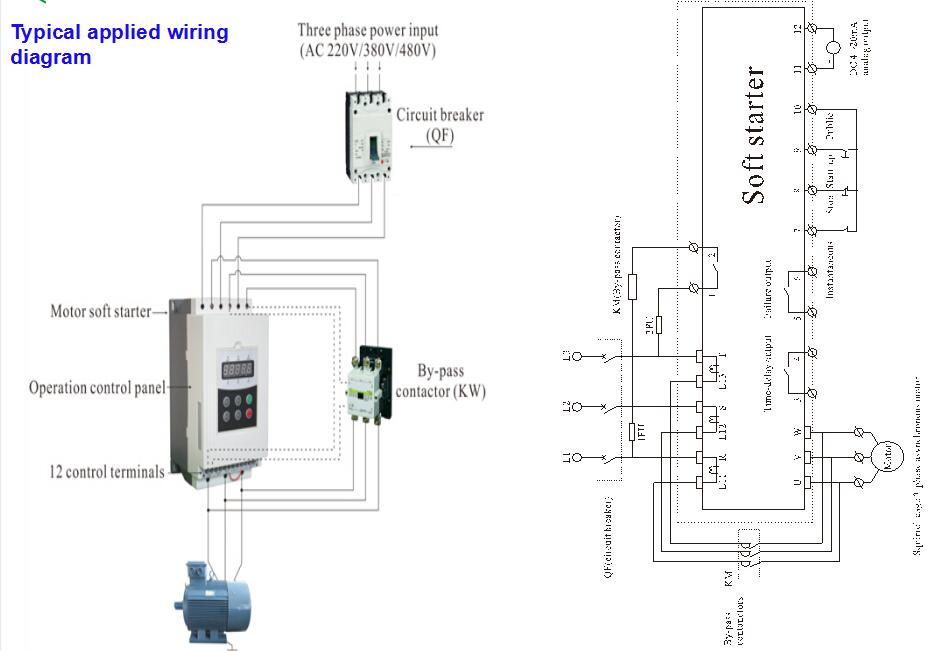 electric motor starter circuit diagram