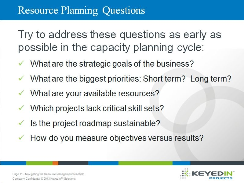 6 Key Questions To Answer During The Resource Capacity