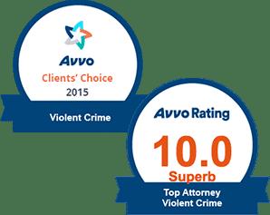 AVVO 10.0 Top Violent Crimes & Clients' Choice Violent Crime