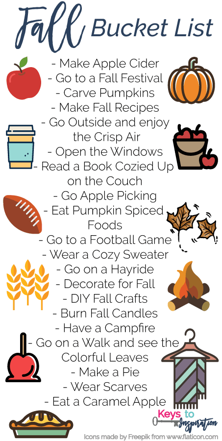 The Ultimate Fall Bucket List of fun and Cozy things to do this season.