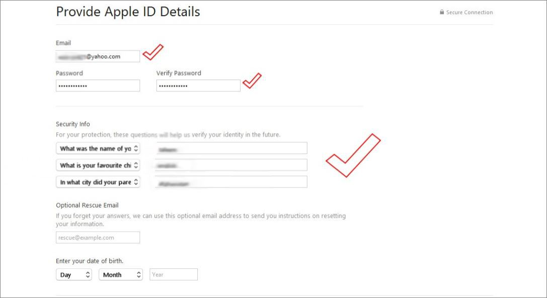 Key to Smart Create Apple ID Without a Credit Card