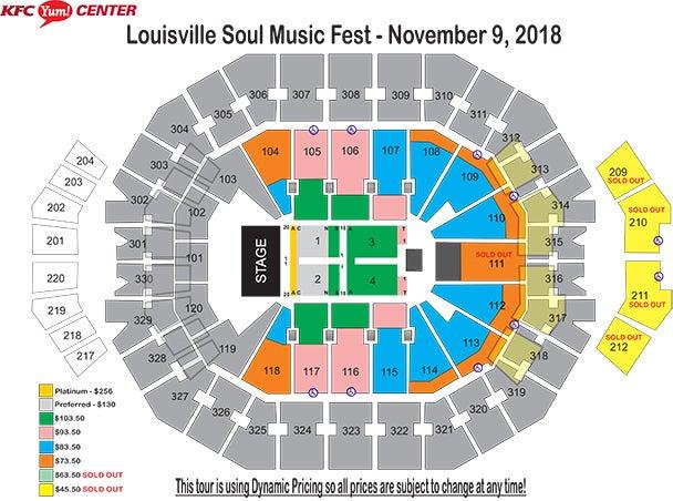 Louisville Soul Music Festival KFC Yum! Center