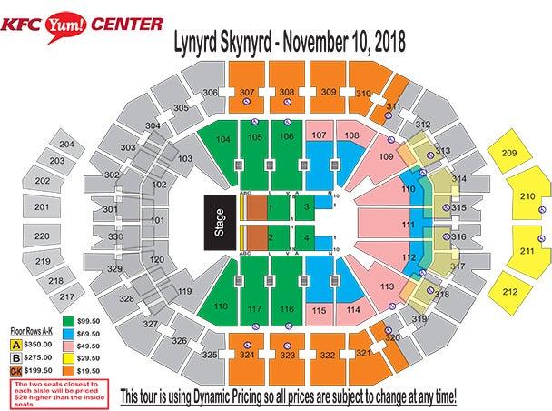 Beautiful Kfc Yum Center Seating Chart With Row Numbers Photos