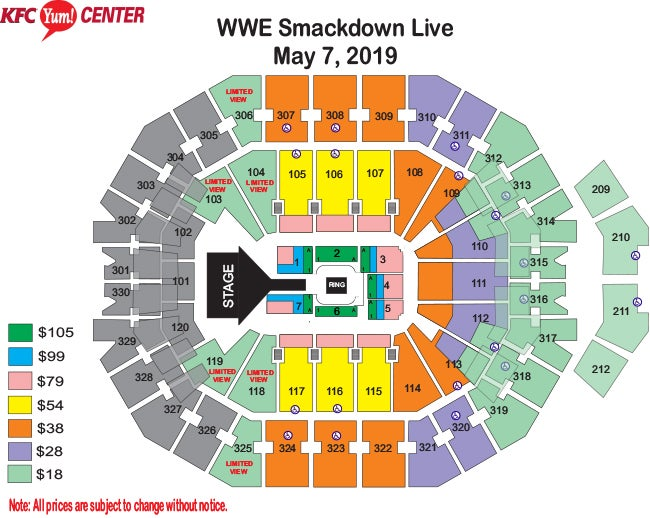 Seating Charts KFC Yum! Center