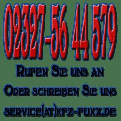 Kfz Fuxx erreichen Sie unter der 02327-5644579