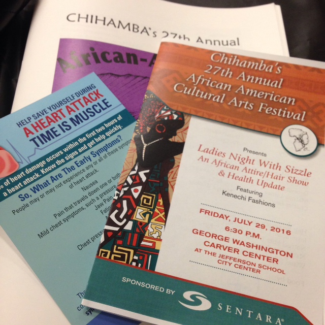 The program and souvenir journal from the Chihamba event.