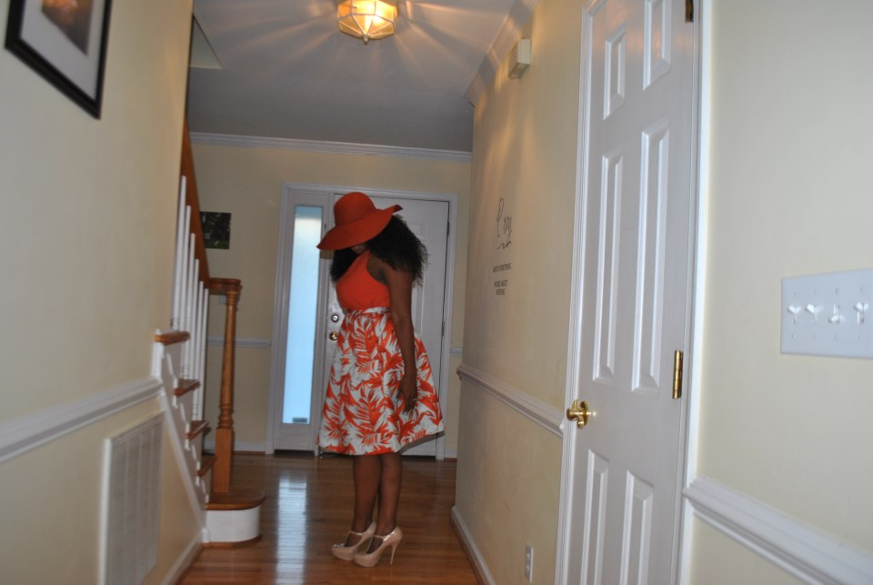 Hat: Forever 21 Top: H and M Skirt: H and M Shoes: Steve Madden