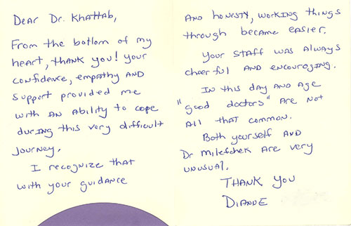 Plastic Surgery Patient Reviews Torrance Cosmetic Surgery - Thank You Letter To Doctor