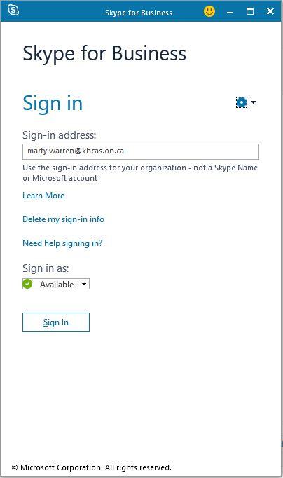 Hosting a Skype Meeting - Kawartha Haliburton CAS