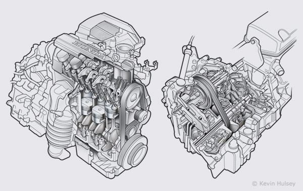 car engine and transmission diagram