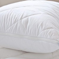 Anti Allergy Quilted Pillow Protectors Pair Zipped Closing ...