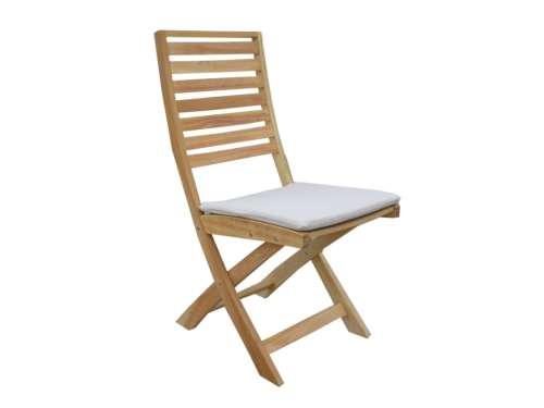 Teak Garden Furniture Euro Folding Chair With Cushion