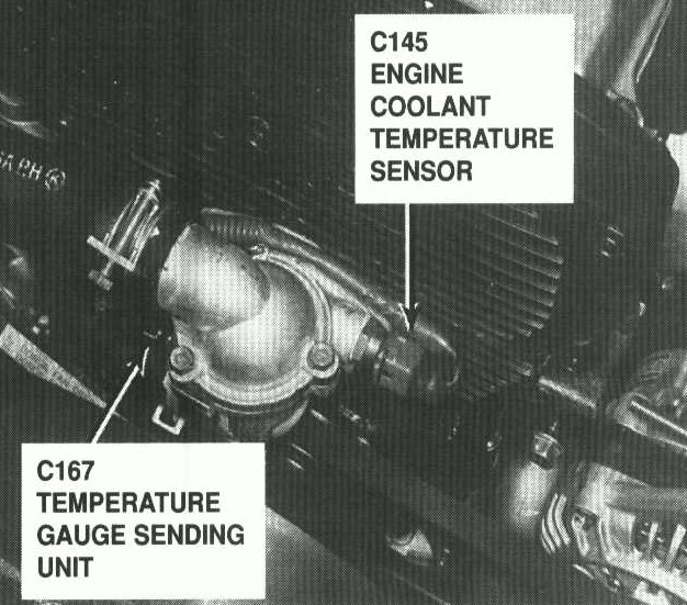 Exact Location of 1998 sportage coolant temp Sending unit and also
